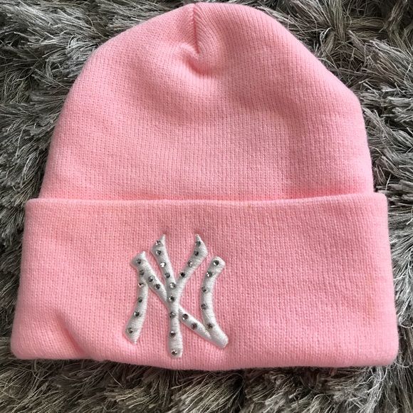 421f65d1e9d Accessories - New York Yankees knit winter hat with rhinestones